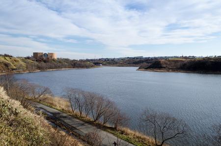 foraging: Spring foraging Lake in spring