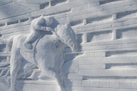 Reliefs made of snow