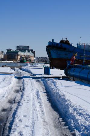 snow road: Snow road Stock Photo