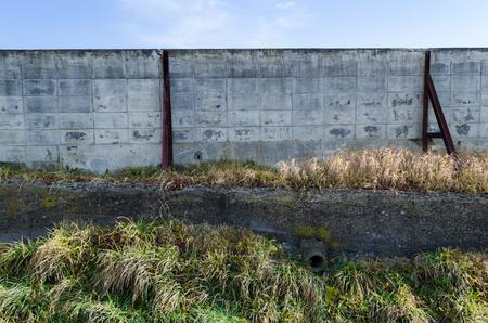 weed block: The Bank wall