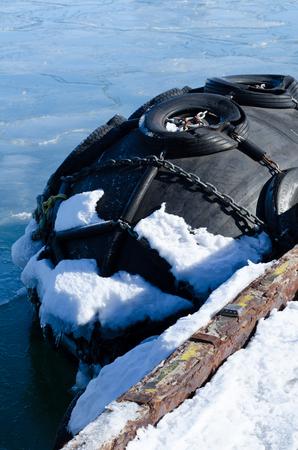 elasticidad: flotador grande Harbour Foto de archivo