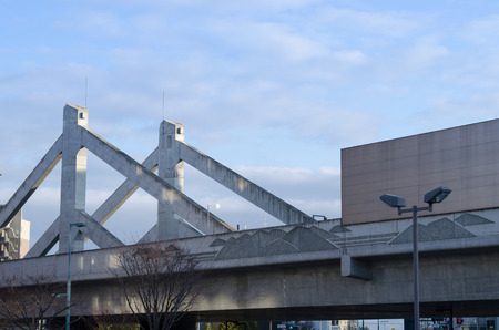 overpass: Obihiro railway overpass Stock Photo