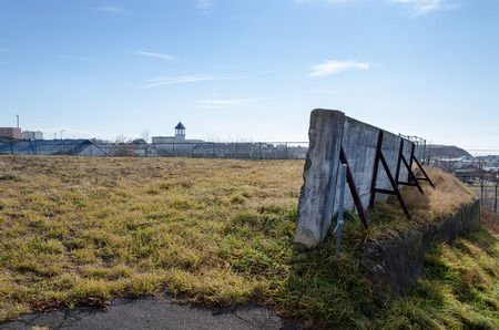 vacant: Vacant lot surrounded by old walls