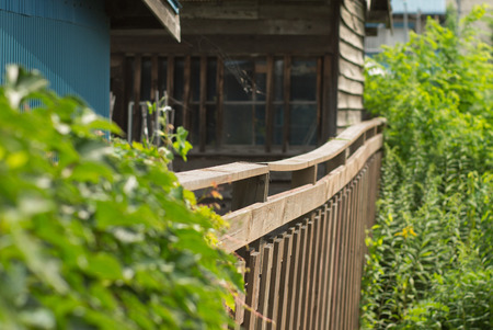 parter: Wood fence