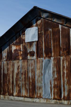 tin: Rusty Tin plate House