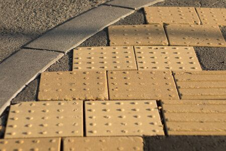 impaired: Visually impaired paving blocks