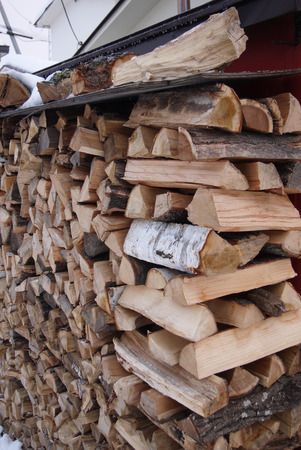 stacked: Stacked firewood