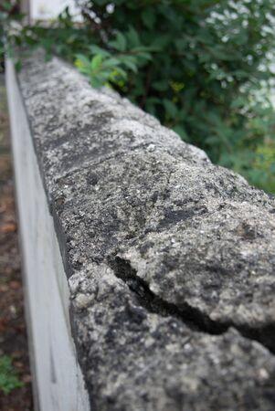 concrete: Concrete fence