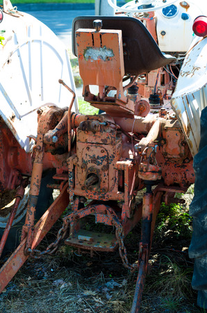 scrapped: An old tractor Stock Photo