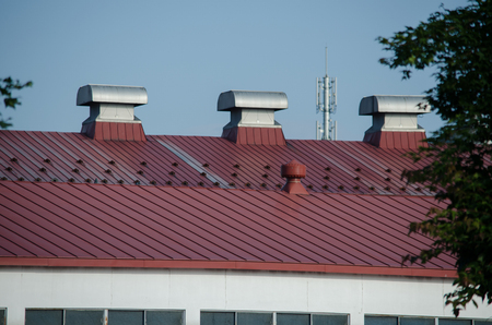 Red roof and duct