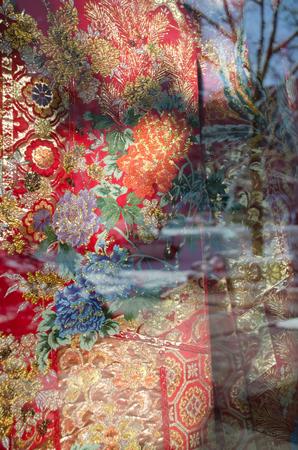 Gorgeous kimono closeup