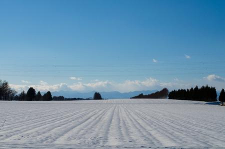 The snowbound Plains Stock Photo