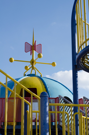 Winter playground 스톡 콘텐츠