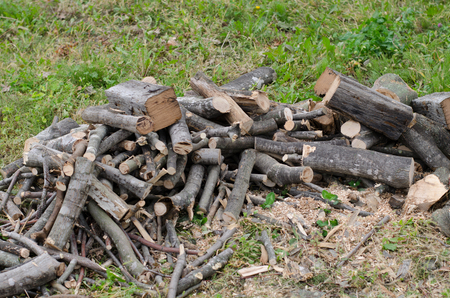 Cracked firewood Stock Photo
