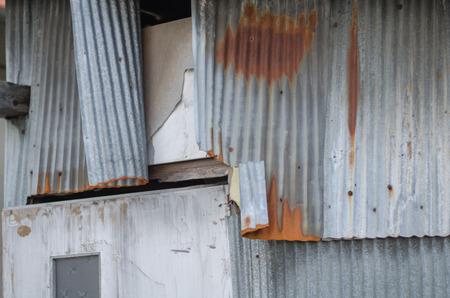 Rusty corrugated sheets