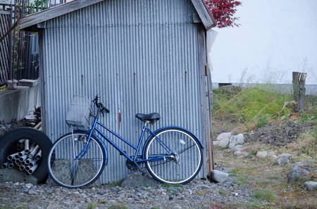 Sheds and bicycle
