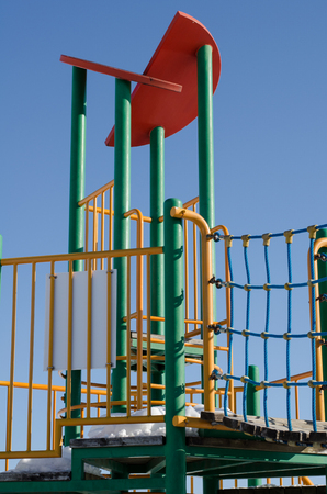 A colorful playground equipment