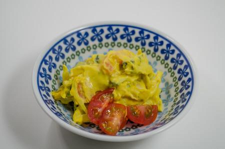 Pumpkin and tomato salad Imagens