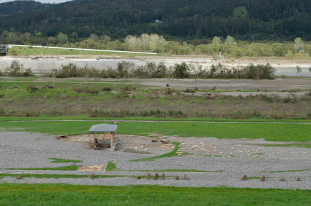 Tokachi river landscape