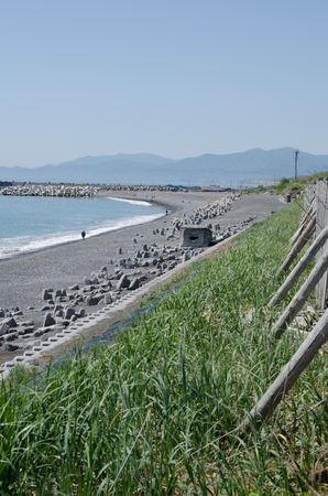 The beach in Taiki town Stok Fotoğraf