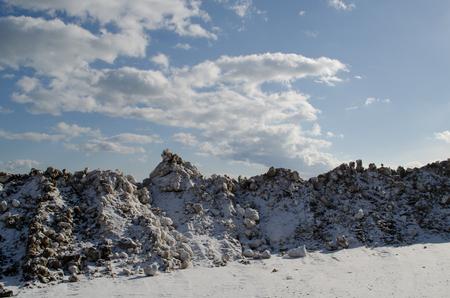 Snow landscape Stok Fotoğraf