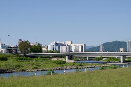 Toyohira river landscape Editöryel