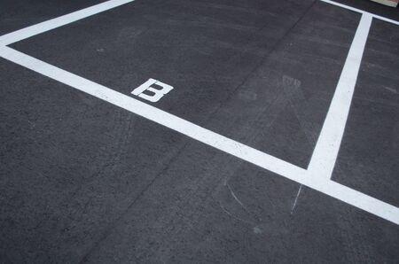 Parking white line 写真素材