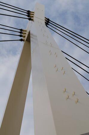 Suspension Bridge Pole 写真素材
