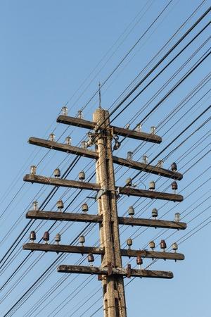 ead: electricity post Stock Photo