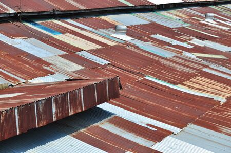 samut prakan: Zinc Roof in Samut Prakan Thailand Stock Photo