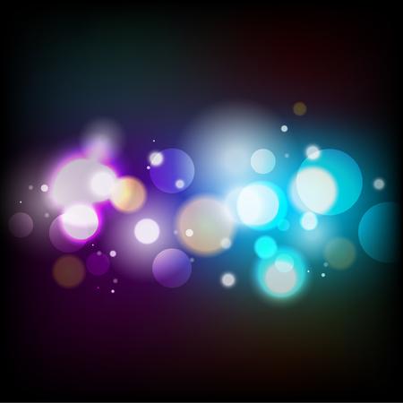 bokeh, abstract blauw en paars licht