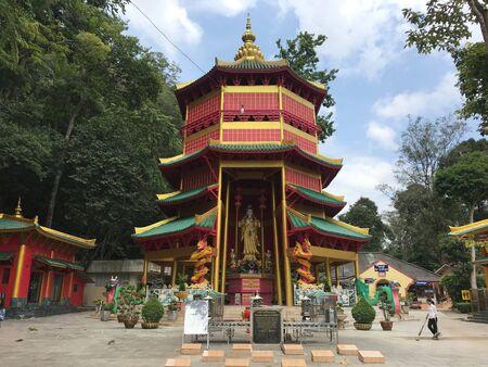 Kuan yin temple in krabi thailand Stock Photo