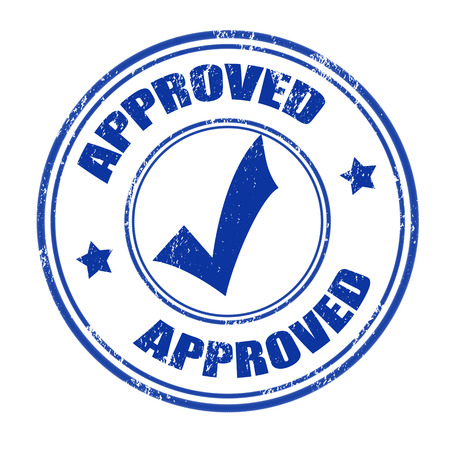approved: Approved grunge rubber stamp on white, vector illustration