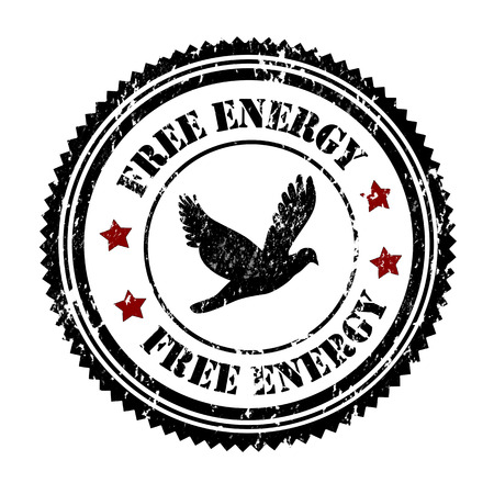 Free energy grunge rubber stamp on white, vector illustration