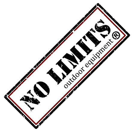 No limit outdoor equipment  grunge rubber stamp,vector illustration