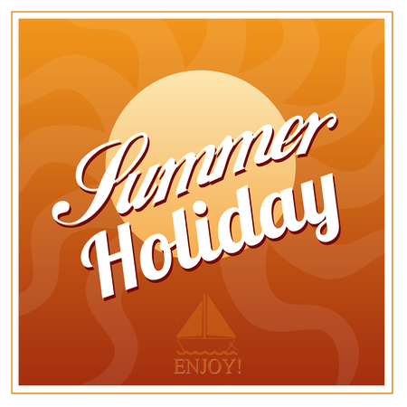 Enjoy Summer Holiday background poster deign, vector illustration