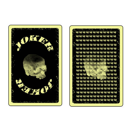 vector joker and back side playing cards icon Vector