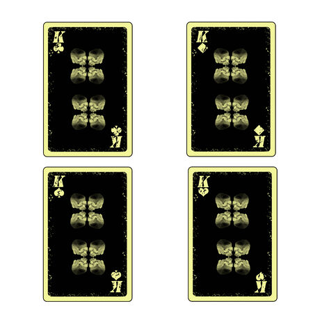 vector four skull kings playing cards icon Vector