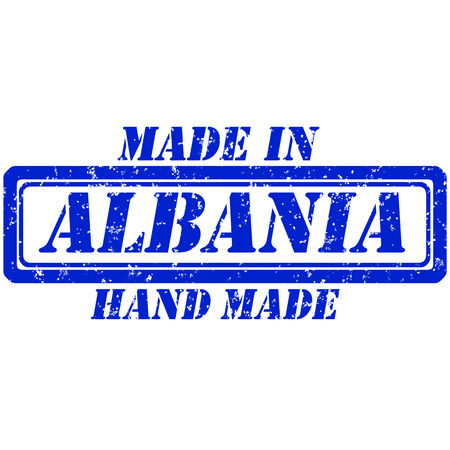made manufacture manufactured: rubber stamp made in and hand made albania