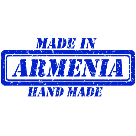 Rubber stamp hand made and made in armenia Illustration