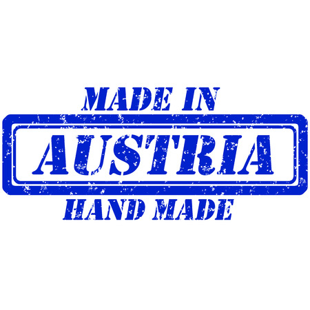 Rubber stamp hand made and made in austria Illustration