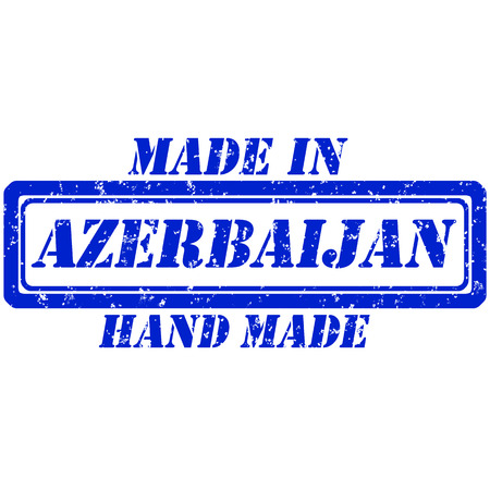Rubber stamp hand made and made in azerbaijan Illustration