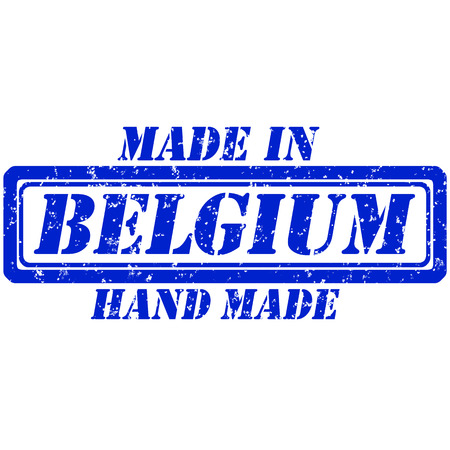 Rubber stamp hand made and made in belgium Illustration