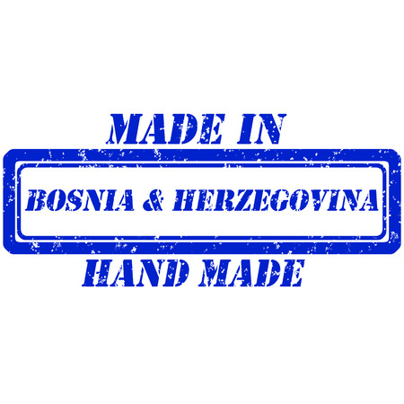 bosnia and  herzegovina: Rubber stamp hand made and made in bosnia herzegovina
