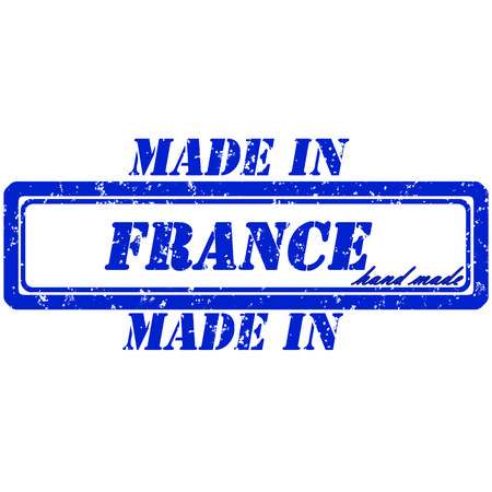 Rubber stamp made in france hand made Vector