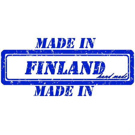 rubber stamp made in finland hand made Vector