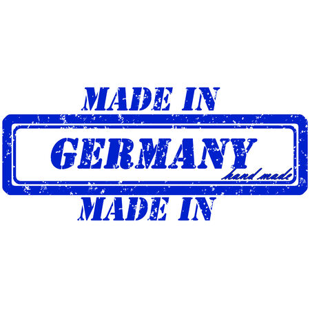 Rubber stamp made in  germany hand made Vector