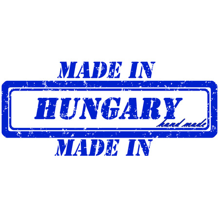 Rubber stamp made in hungary hand made Illustration