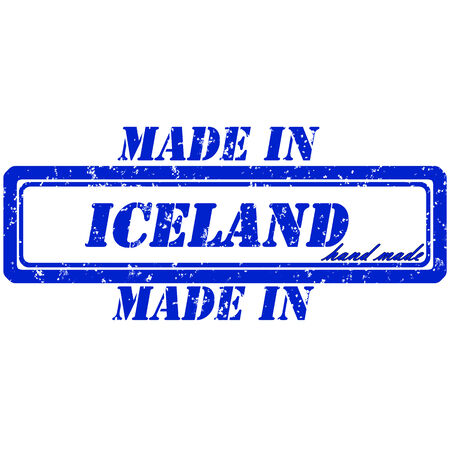 rubber stamp made in iceland hand made