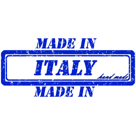 rubber stamp made in italy hand made Vector